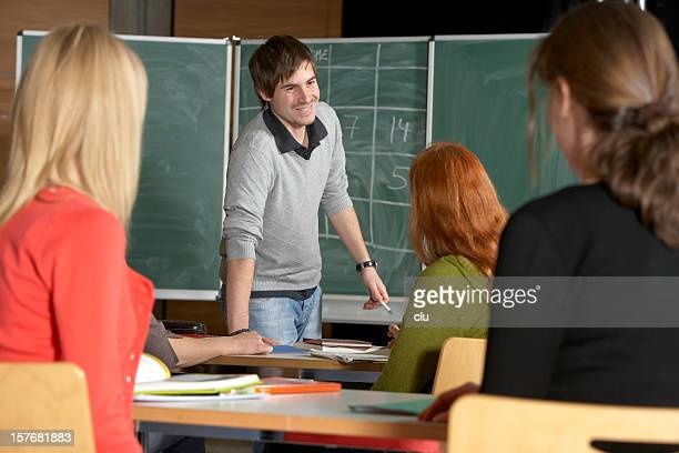 Teacher and students in the classroom