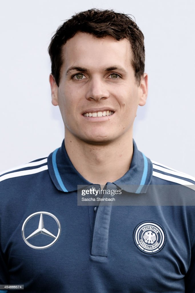 Teacher Andreas Ganz poses during the U19 Germany team presentation at Sportpark Hoehenberg on September 4, 2014 in Cologne, Germany.