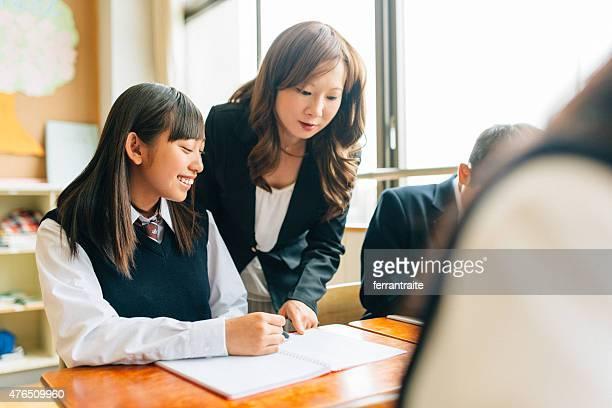 教師補佐学生、日本の中学校
