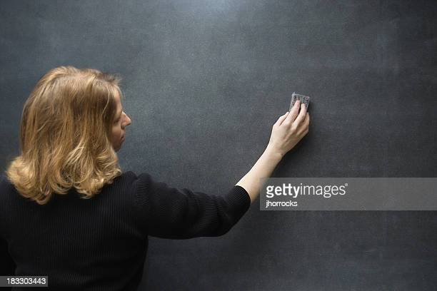 Teacher Erasing The Blackboard
