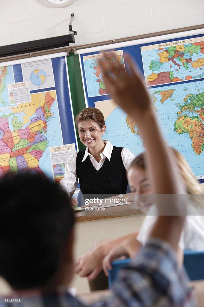 Teacher in class : Stock Photo