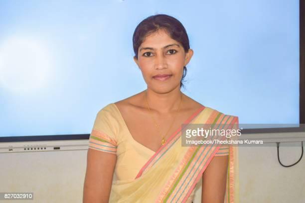 Teacher in front of Smart classroom
