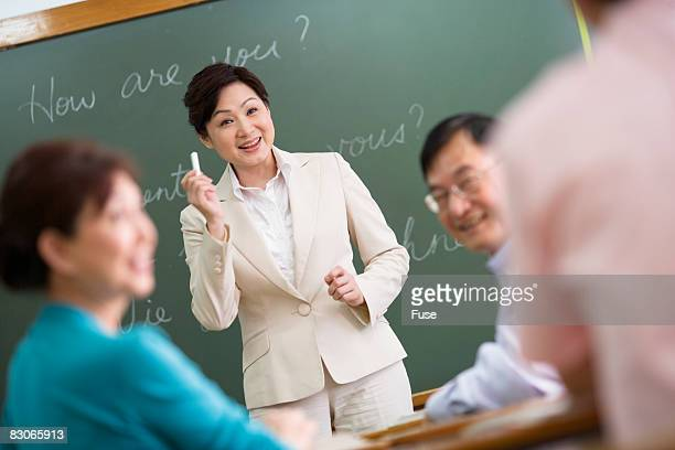 Teacher in Language Class