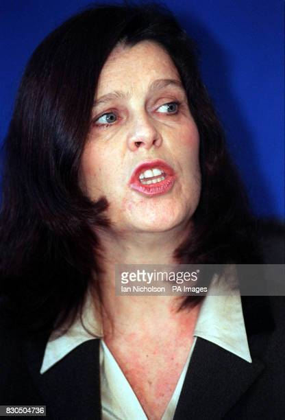 Teacher Jan Howell during a press conference in London who has been awarded 254362 in compensation after suffering two breakdowns due to stress...