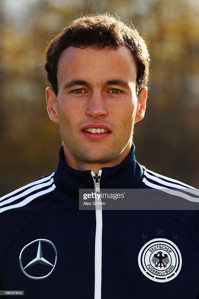 Teacher Marcel Schopfer poses during the Germany U18 team presentation at Commerzbank Arena on November 12, 2012 in Frankfurt am Main, Germany.
