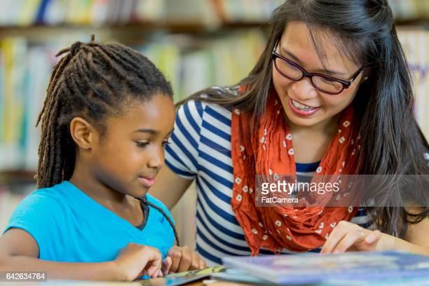 Leraar lezing met een Student