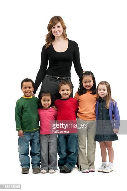 Lehrer mit preschoolers