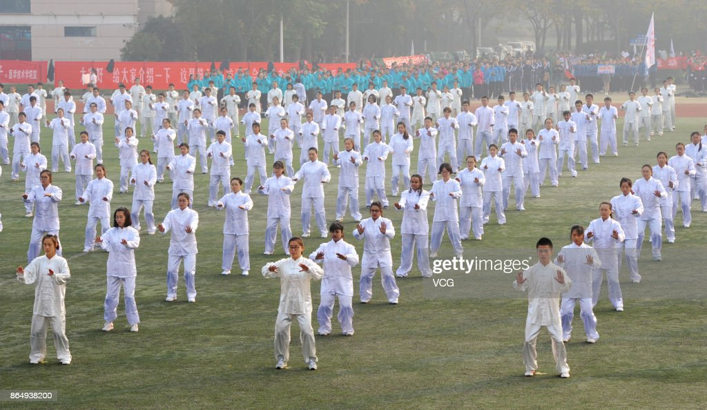 500 Teachers And Students Perform Tai Chi In Xuzhou