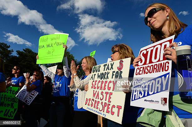 Teachers from Patterson International elementary school joined hundreds of Jefferson county students teachers and parents at a rally to protest the...