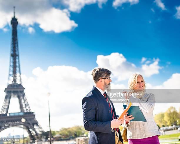 teachers in paris during a class less