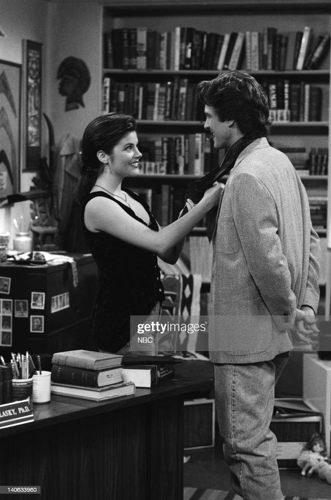 YEARS 'Teacher's Pet' Episode 12 Air Date Pictured Tiffani Thiessen as Kelly Kapowski Patrick Fabian as Professor Jeremiah Lasky Photo by Chris...