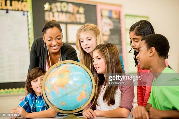 Teaching Geography Class