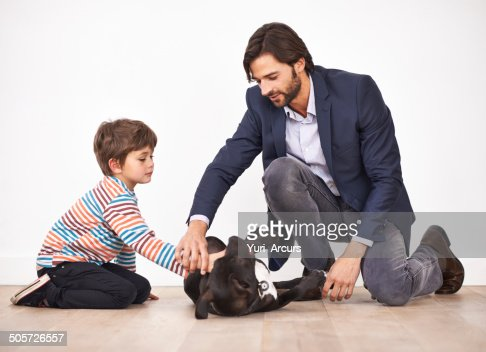 Teaching his son respect for animals