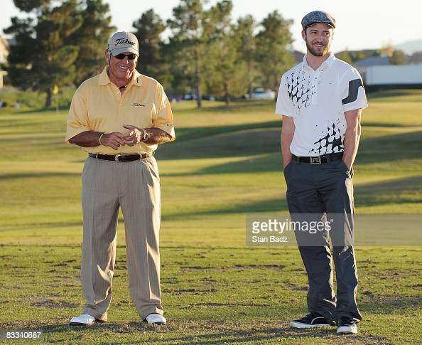 Teaching pro Butch Harmon and Justin Timberlake hosted a youth clinic after the third round of the Justin Timberlake Shriners Hospitals for Children...