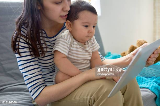 Teaching son with technology