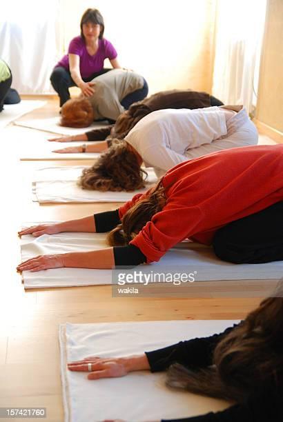 teaching yoga group