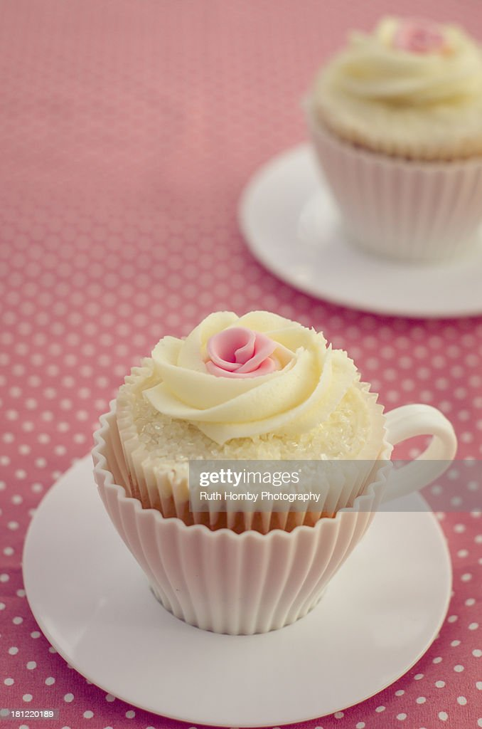 Teacups and Cupcakes : Stock Photo