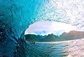 Perfect wave in Tahiti