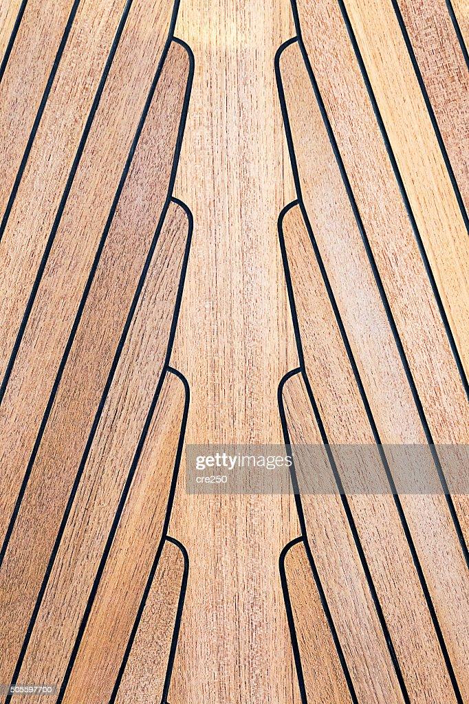 Teak Wood On Boat, Texture : Stock Photo