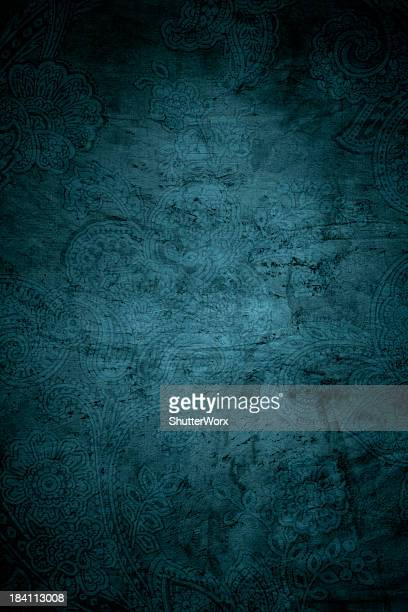 Teal Blue Paisley Background