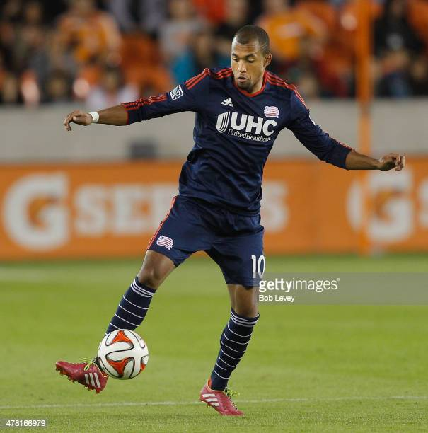 Teal Bunbury of New England Revolution at BBVA Compass Stadium on March 8 2014 in Houston Texas