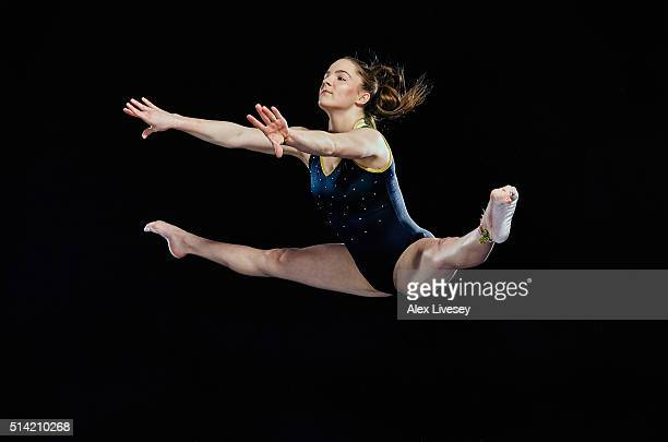 Teal Grindle of the British Gymnastics Team poses during a portrait session at Lilleshall National Sports Centre on February 11 2016 in Shropshire...