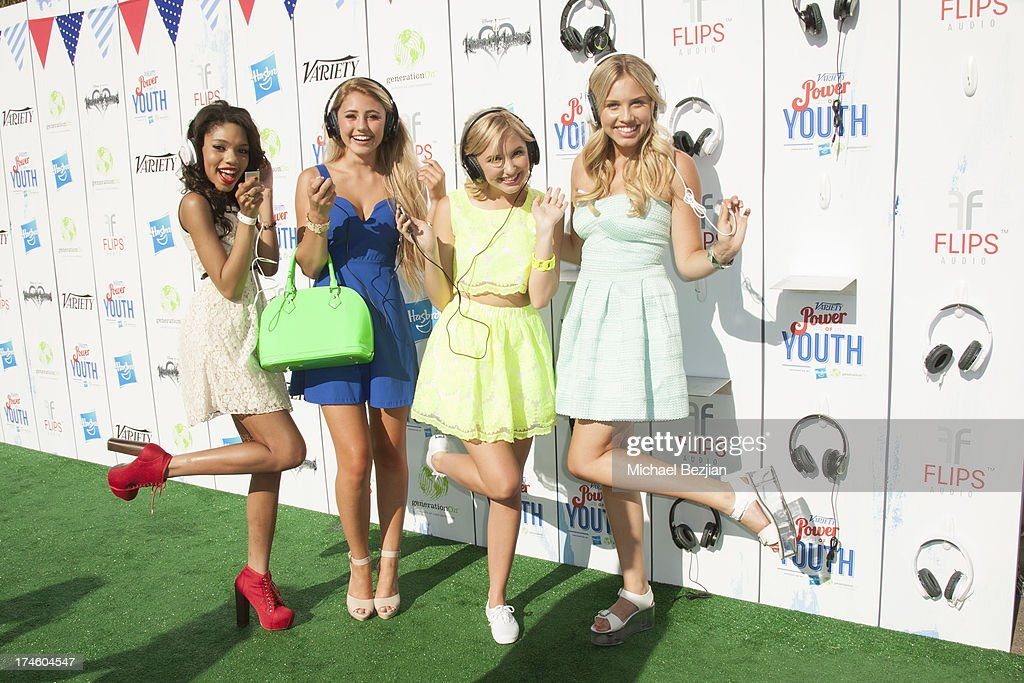Teala Dunn, Lia Marie Johnson, Audrey Whitby and Gracie Dzienny attend Flips Audio At Variety Power of Youth at Universal Studios Backlot on July 27, 2013 in Universal City, California.