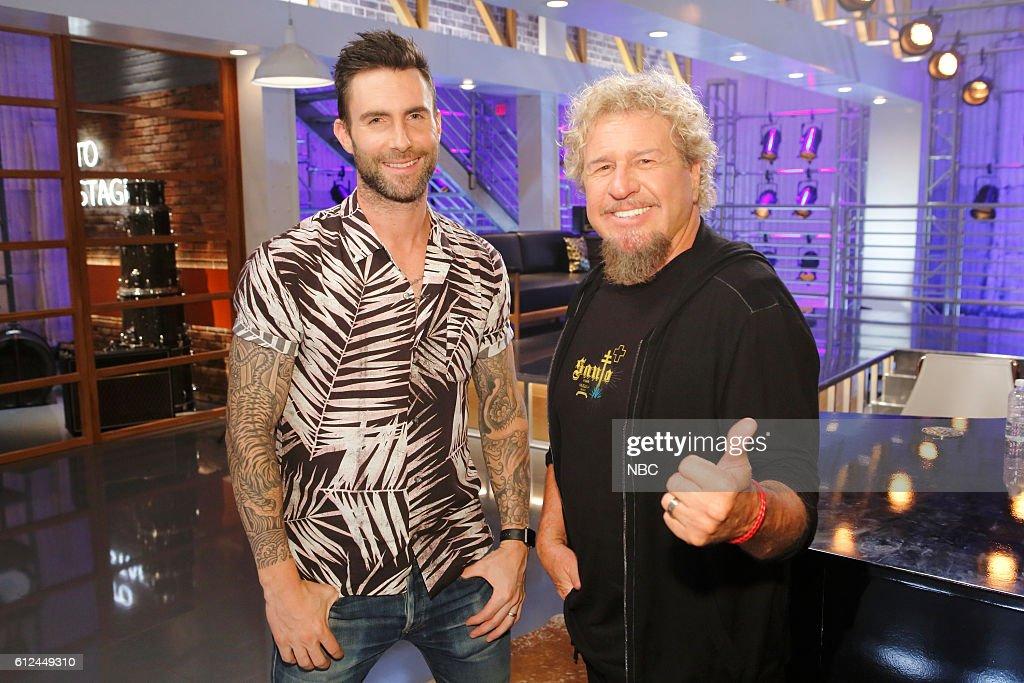 THE VOICE -- 'Team Adam Battle Reality' -- Pictured: (l-r) Adam Levine, Sammy Hagar --
