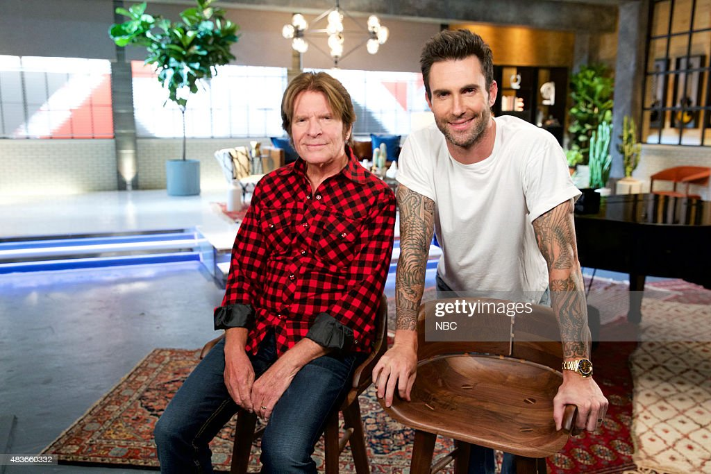 THE VOICE -- 'Team Adam Battle Reality' -- Pictured: (l-r) John Fogerty, Adam Levine --