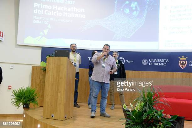 Team attend the second day of the Hackathon Event at the University of Letters on October 15 2017 in Trento Italy