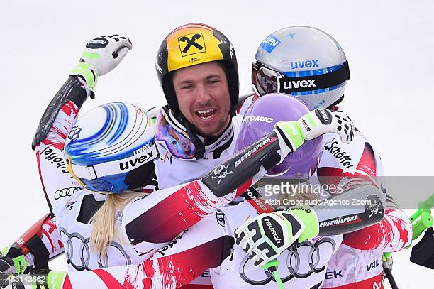 Team Austria win the gold medal during the FIS Alpine World Ski Championships Nations Team Event on February 10 2015 in Beaver Creek Colorado