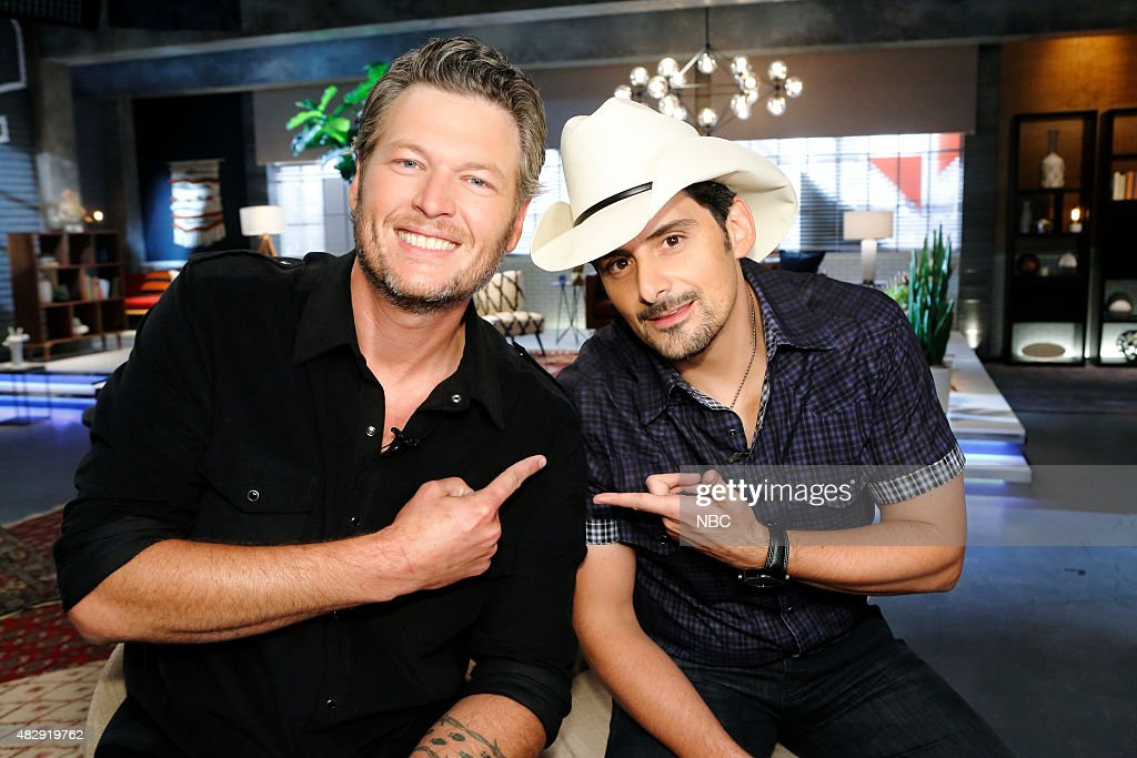 THE VOICE -- 'Team Blake Battle Reality' -- Pictured: (l-r) <a gi-track='captionPersonalityLinkClicked' href=/galleries/search?phrase=Blake+Shelton&family=editorial&specificpeople=2352026 ng-click='$event.stopPropagation()'>Blake Shelton</a>, <a gi-track='captionPersonalityLinkClicked' href=/galleries/search?phrase=Brad+Paisley&family=editorial&specificpeople=206616 ng-click='$event.stopPropagation()'>Brad Paisley</a> --