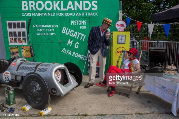 Team Brooklands Special wait in the pits ahead of The Red Bull Soapbox Race at Alexandra Palace on July 9 2017 in London England The event in which...