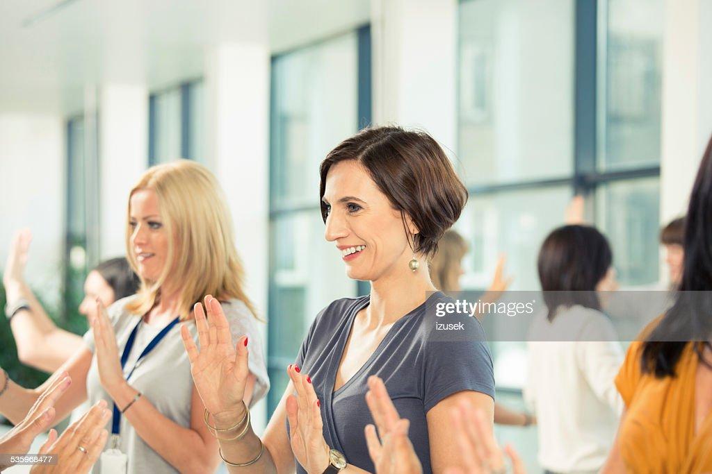 Team building seminar for women : Stock Photo