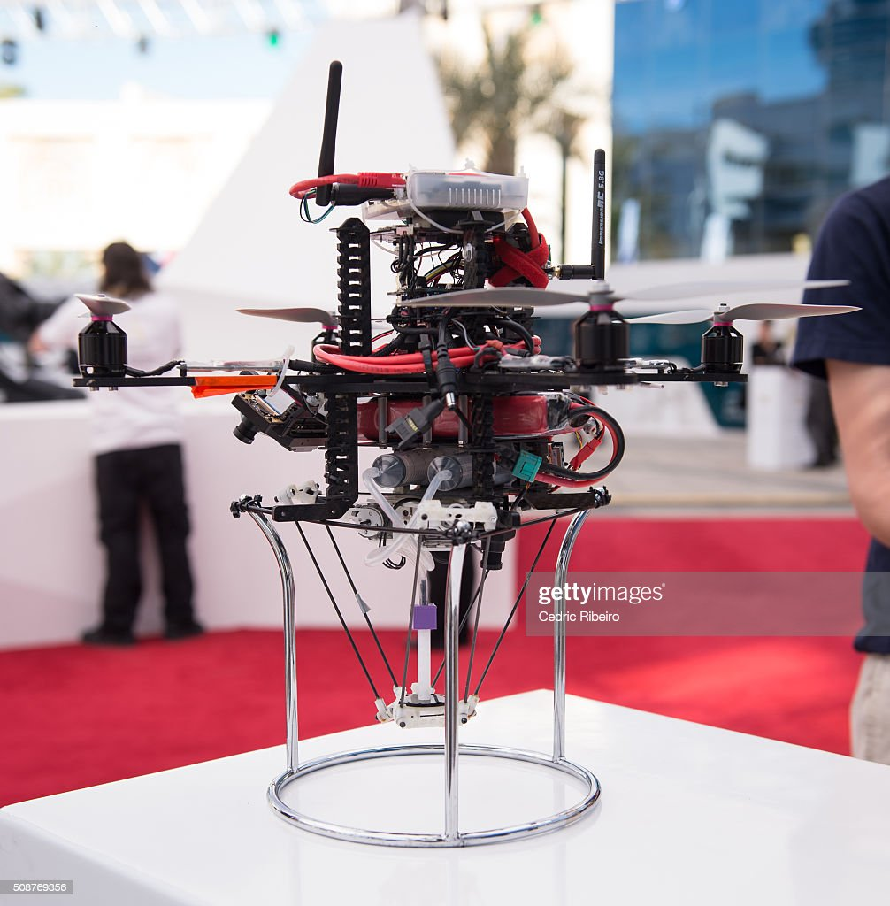 Team BUILDRONE during The UAE AI & Robotics Award for Good at Dubai Internet City on February 6, 2016 in Dubai, United Arab Emirates where the winners of the USD 1 million international competition and the AED 1 million national competition will be announced.
