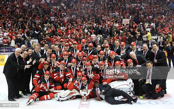 TORONTO ON JANUARY 5 Team Canada beats Team Russia 54 to win the Gold Medal in the IIHF World Junior Hockey Tournament at the Air Canada Centre in...