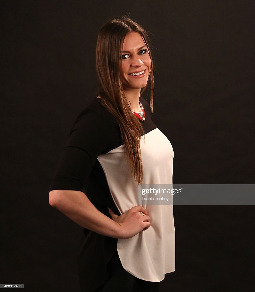 Team Canada hockey Olympic gold medalist <a gi-track='captionPersonalityLinkClicked' href=/galleries/search?phrase=Natalie+Spooner&family=editorial&specificpeople=10806684 ng-click='$event.stopPropagation()'>Natalie Spooner</a>.