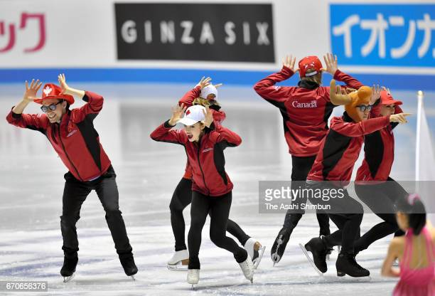 Team Canada is introduced at the opening ceremony during day one of the ISU World Team Trophy 2017 at Yoyogi National Gymnasium on April 20 2017 in...