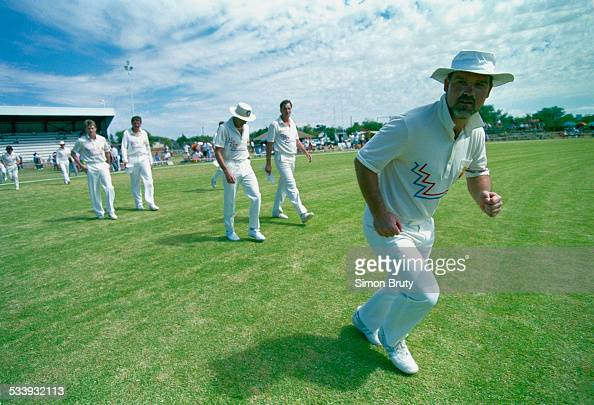 Team captain Mike Gatting during the controversial rebel tour of South Africa by the England cricket team 1990