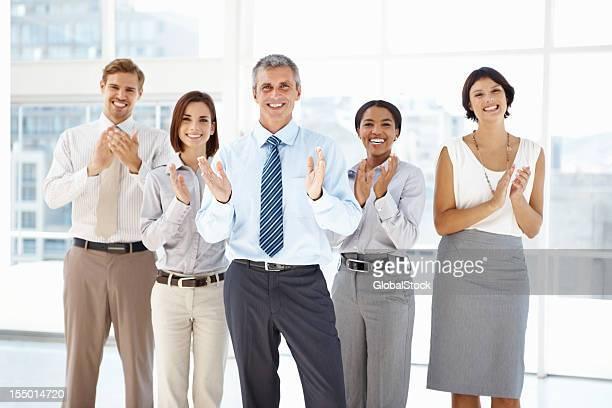 Team celebrating success