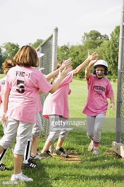 Team Cheer On a Fellow Teammate