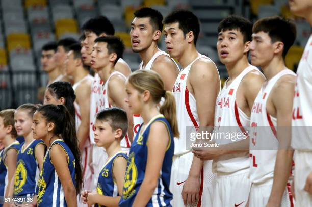 Team China before the match between the Brisbane Bullets and China at the Gold Coast Sports Leisure Centre on July 18 2017 in Gold Coast Australia