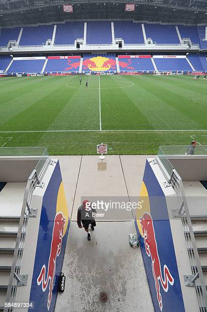 Team coach Carlo Ancelotti of FC Bayern Muenchen leaves the pitch after a training session at the AUDI Summer Tour USA 2016 at Red Bull Arena...