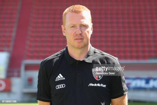 Team coach Maik Walpurgis of FC Ingolstadt poses during the team presentation at Audi Sportpark stadium on July 8 2017 in Ingolstadt Germany