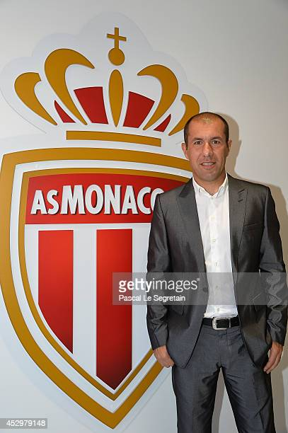 Team coach of AS Monaco Leonardo Jardim attends the AS Monaco football club flagship store opening on July 31 2014 in Monaco Monaco