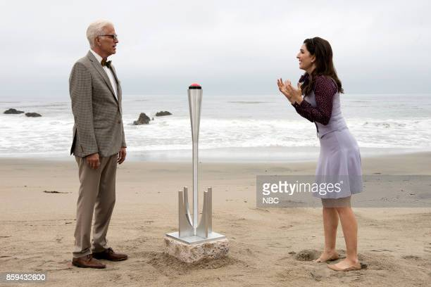 PLACE 'Team Cockroach' Episode 204 Pictured Ted Danson as Michael D'Arcy Carden as Janet