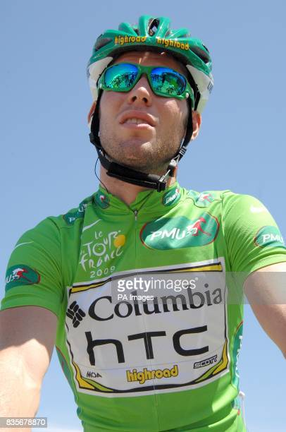 Team Columbia's Mark Cavendish before the fifth stage of the Tour de France between Le Cap d'Agde and Perpignan
