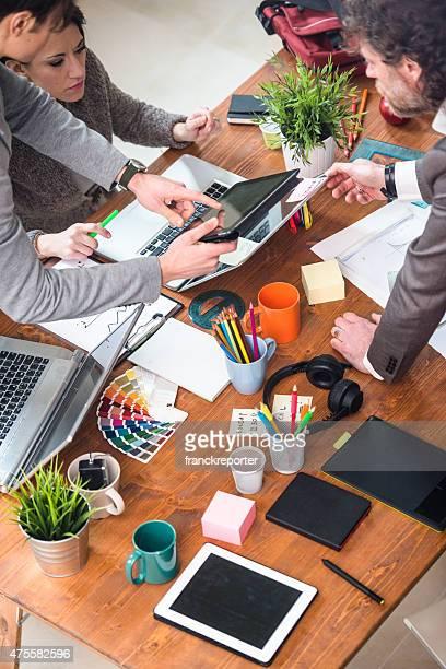 team über kollaborative im Büro
