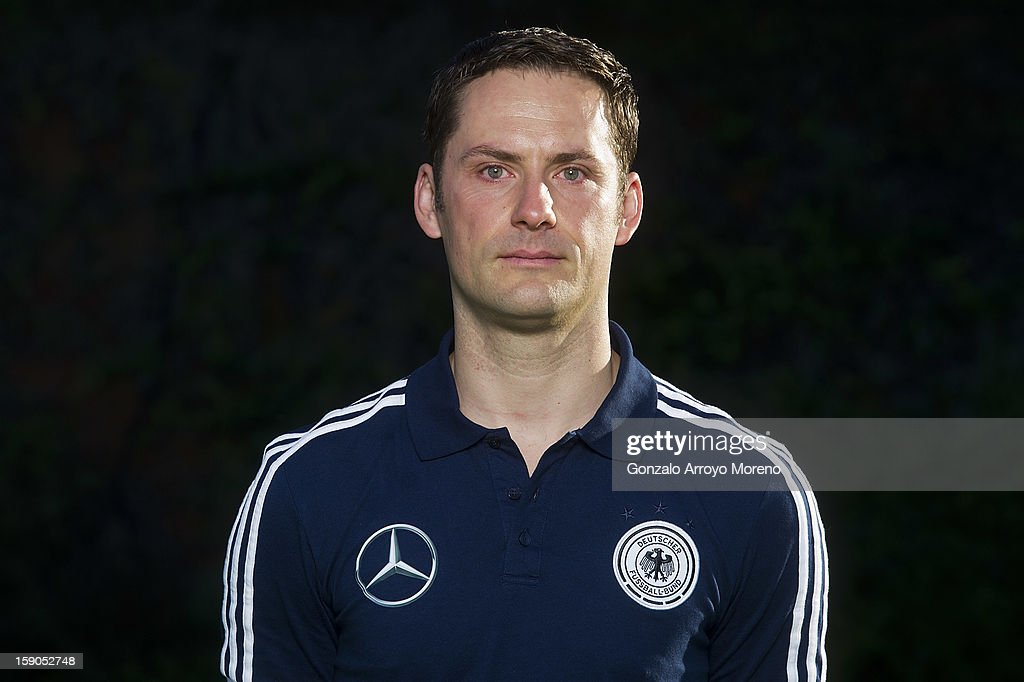 Team doctor Marc Trefz poses during the Germany U17 team presentation at La Manga Club training ground H on January 6, 2013 in La Manga, Spain.