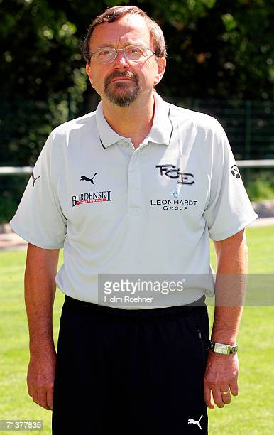 Team Dr Eberhard Winkler poses during the Bundesliga 2nd Team Presentation of FC Erzgebirge Aue on July 4 2006 in Aue Germany